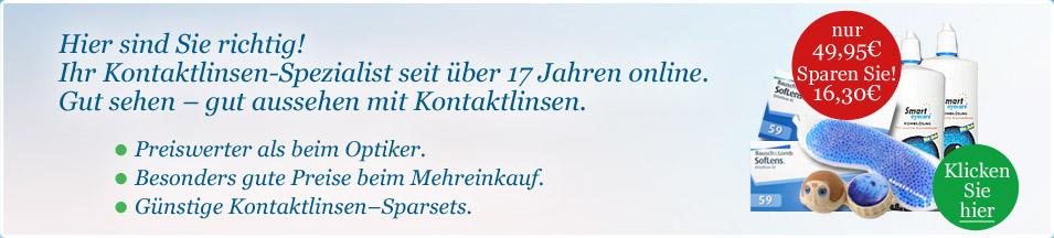 Kontaktlinsen online günstig   Linsen.dk