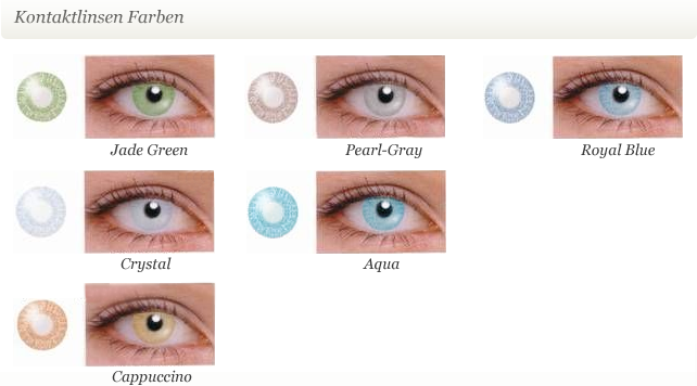 Colormaker kontaktlinsen farbig augenfarbe verändernde linsen