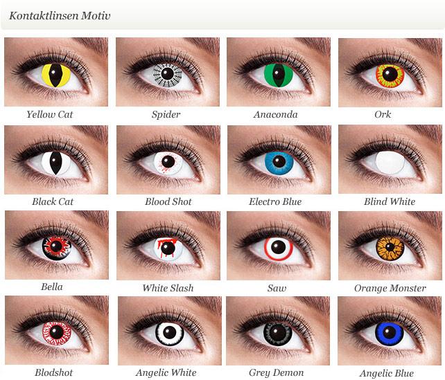 eyecatcher farblinsen faschingslinsen hellowen. Black Bedroom Furniture Sets. Home Design Ideas